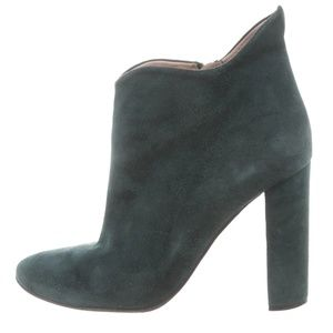 Chloe Suede  Dark Blue / Green Ankle Boots